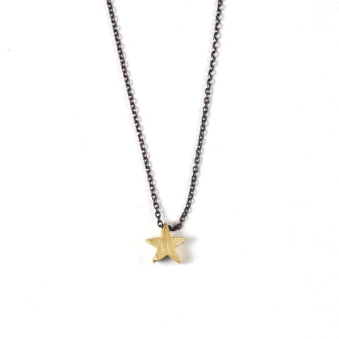 Tiny 14K Star Necklace