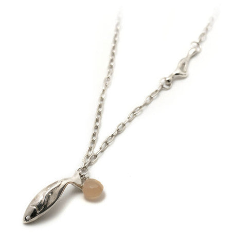 Large Fish Necklace With Moonstone