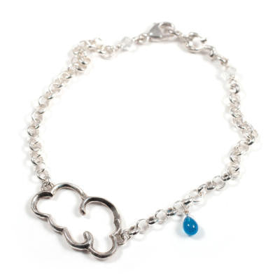 Cloud Bracelet with Raindrop