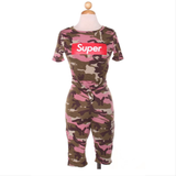 💞Super Pink Camo Shorts Set💞