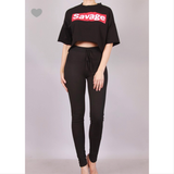 😻 Savage Oversized Cut Off Crop Top T-Shirt 😻