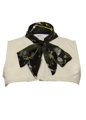 Multi Color Ribbon Collar Vest