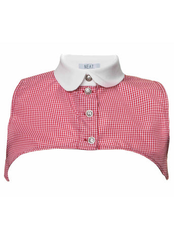 Jane Red White Plaid Collar Vest