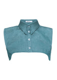 Pointed Stone Wash Green Collar Vest Front