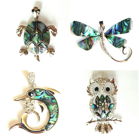 Abalone Shell Animal Pendants
