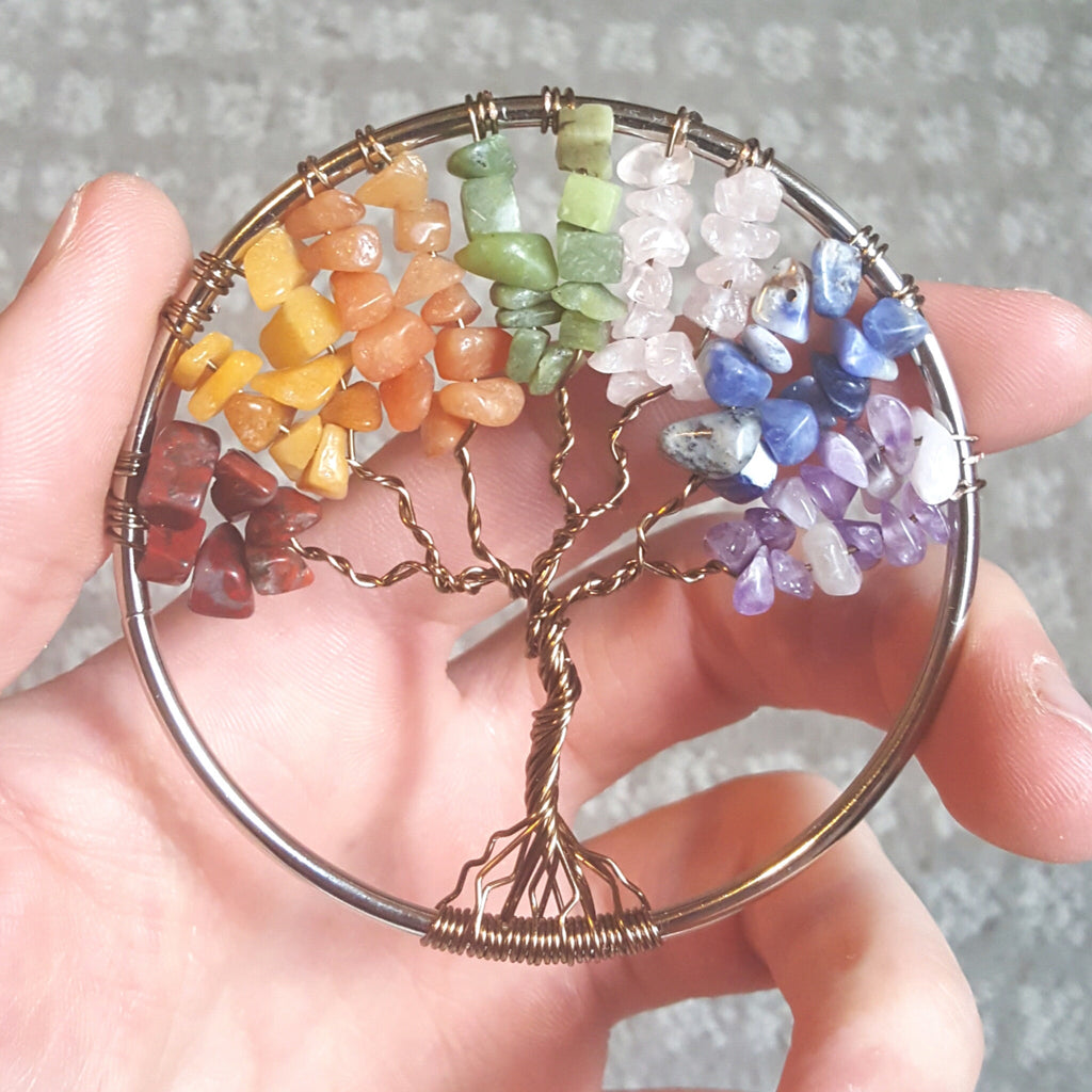 Tree Of Life Crystal Pendant (Large)