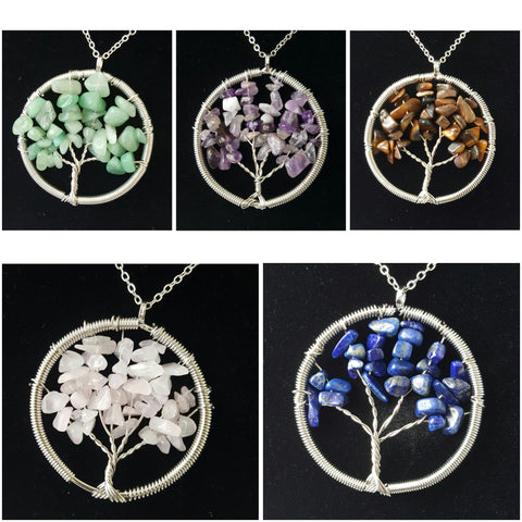 Tree of Life Crystal/Gemstone Pendants