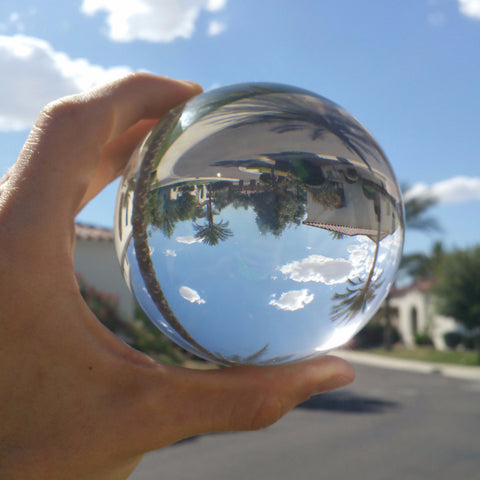 Clear Crystal Ball w/stand