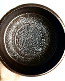 XL Tibetan Singing Bowl w/Buddha