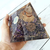 XL Flower of Life Orgonite Pyramid