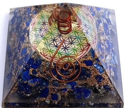 Flower Of Life Orgonite Pyramid Amplify Your Vibration
