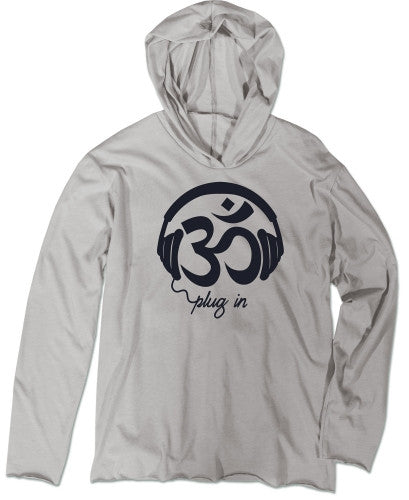 Om Plug In Men's Recycled T-shirt Hoody