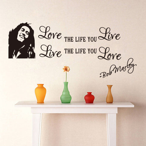 Love The Life You Live-Bob Marley Wall Decal