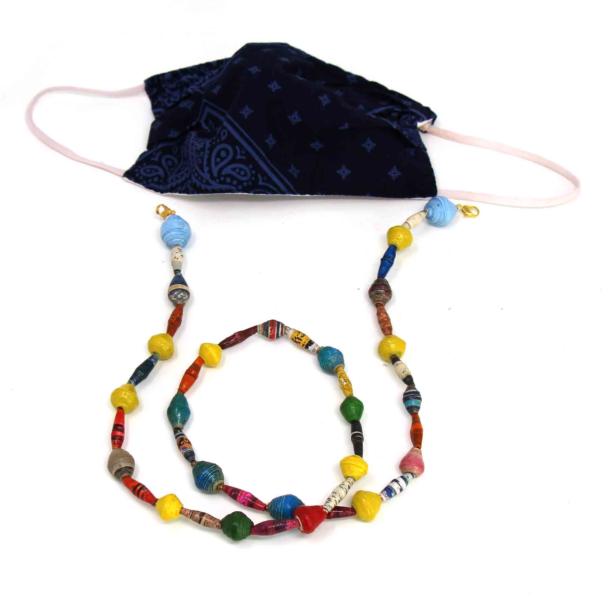 Paper Bead Mask Chain or Eyeglass Holder