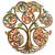 Autumn Spiral Tree of Life Haitian Steel Drum Wall Art, 24""