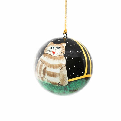 Handpainted Ornament Cat - Pack of 3