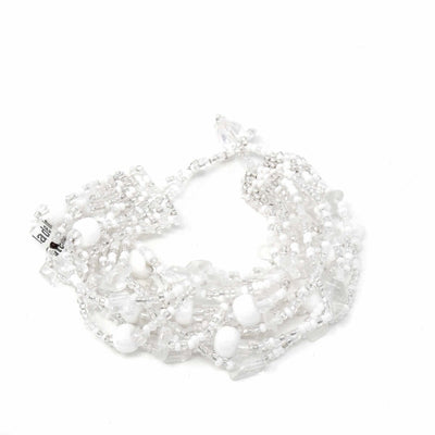 Beach Ball Bracelet Silver White