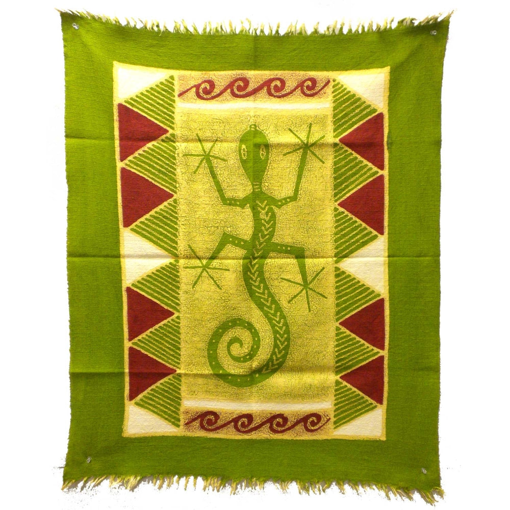 Gecko Batik in Green/Yellow/Red