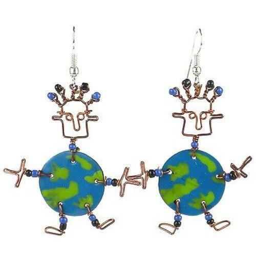Dancing Girl World Earrings Handmade and Fair Trade