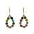Kantha Bead Teardrop Earrings