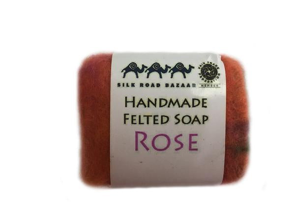 Handmade Felted Soap Rose  (S)