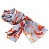 Printed Birds Design Cotton Scarf