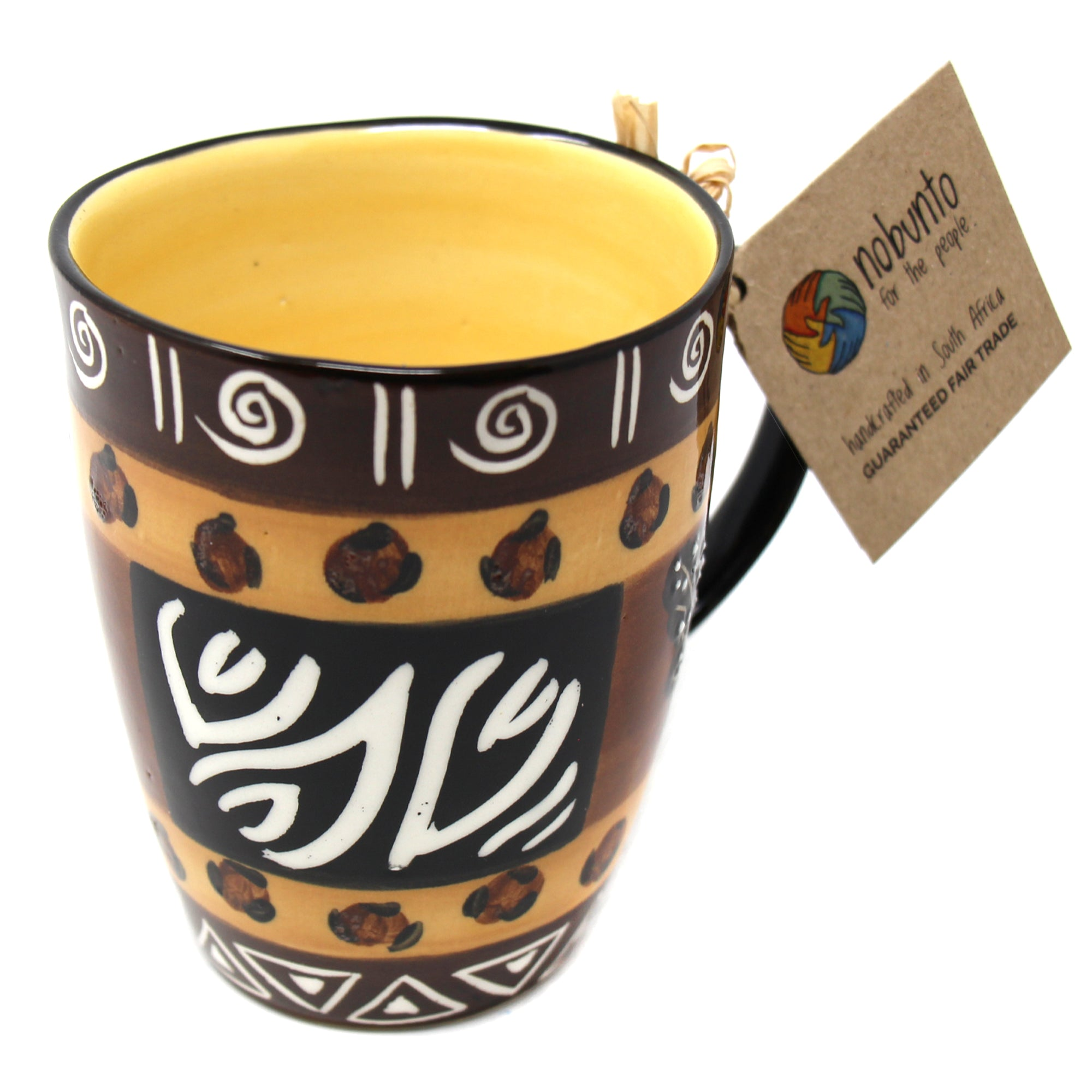 Hand Painted Mug, Uzima Design
