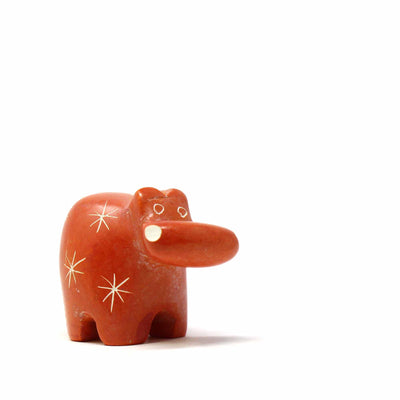 Soapstone Tiny Hippos - Assorted Pack of 5 Colors