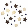 Hand Crafted Felt from Nepal: Stars Garland, Grey/Blue
