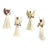 Sisal Angel Ornaments, 3.5-inches - Set of 4