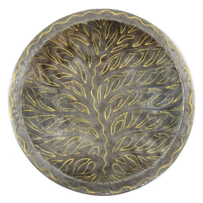 Tree of Life Haitian Steel Fruit Bowl Tabletop Décor, 14""