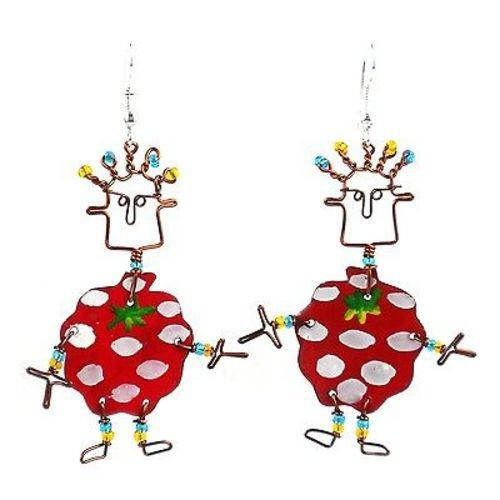 Dancing Girl Berry Earrings