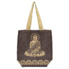 Metallic Buddha Jute Tote - Mocha Brown  (Bag)