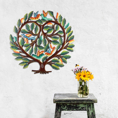 24 inch Painted Tree of Life Heart