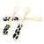 Handmade Bone Bar Set - 2 Spoons 1 Animal Fork