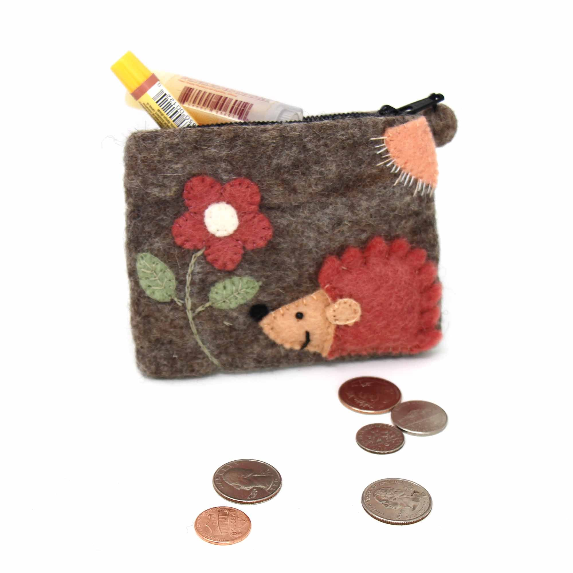 Handcrafted Hedgehog Coin Pouch