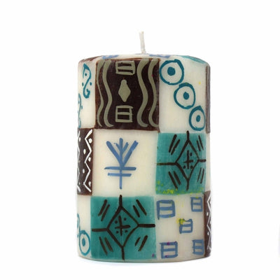 Single Boxed Hand-Painted Pillar Candle - Maji Design
