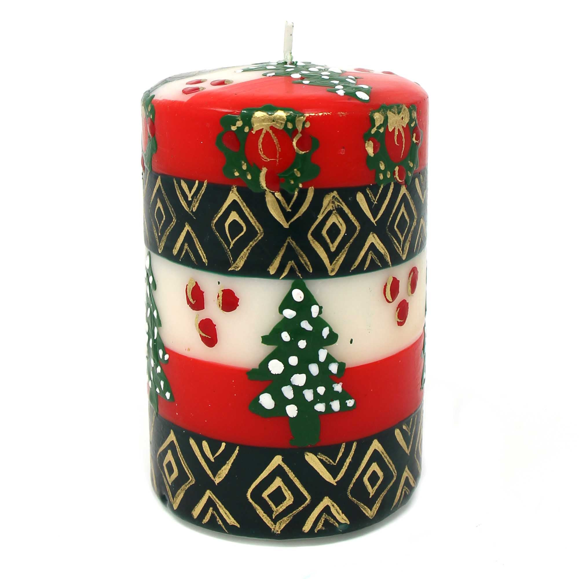 Hand Painted Candle - Single in Box - Ukhisimui Design