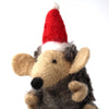 Hand Felted Christmas Ornament: Hedgehog
