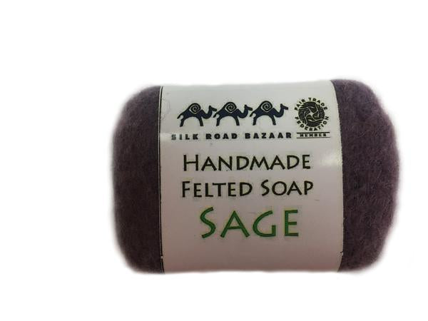 Handmade Felted Soap Sage  (S)