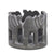 Circle of Elephants Soapstone Sculpture, 3 to 3.5-inch - Gray Stone