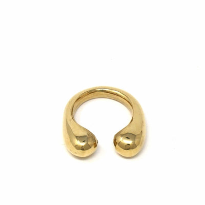 Brass Chunky Wrap Rings, Size 8