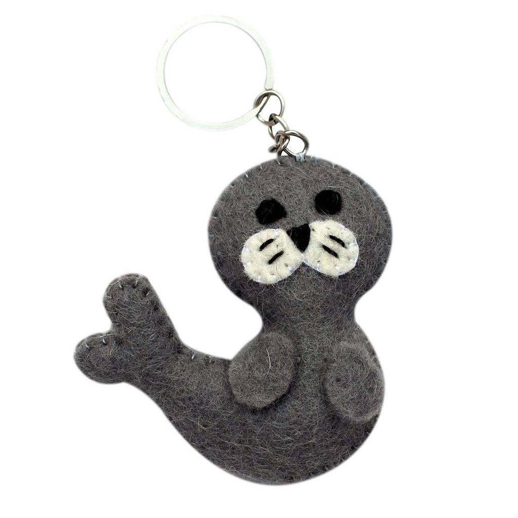Felt Seal Key Chain