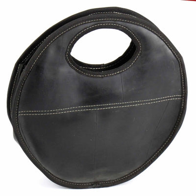 Recycled Rubber Round Handbag
