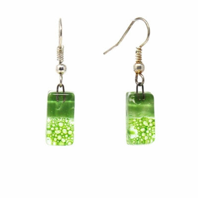Small Rectangular Glass Earring