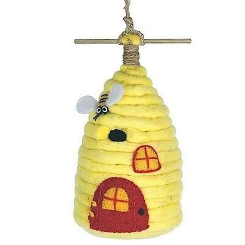 Wild Woolies Felt Birdhouse, Honey House