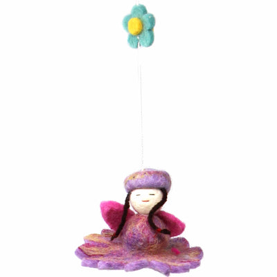 Felt Flower Fairy Mobile
