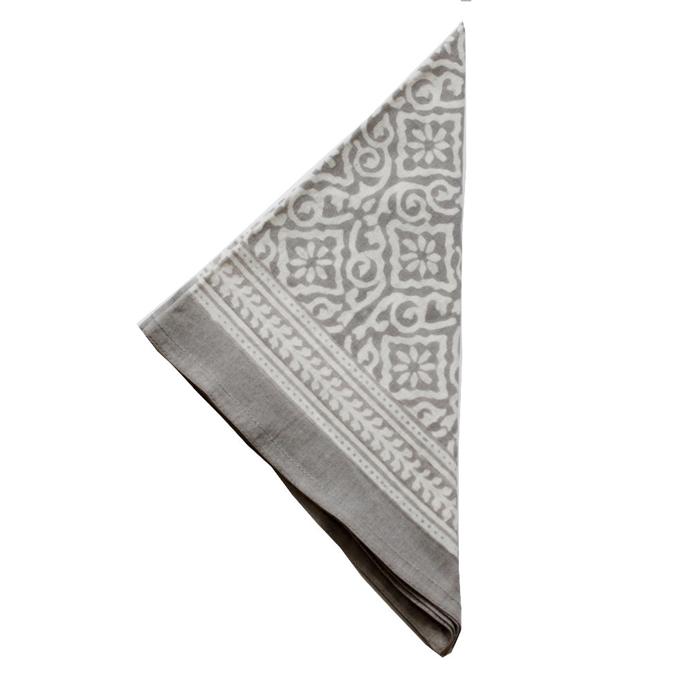 Jaipur Grey Napkins Set of 4