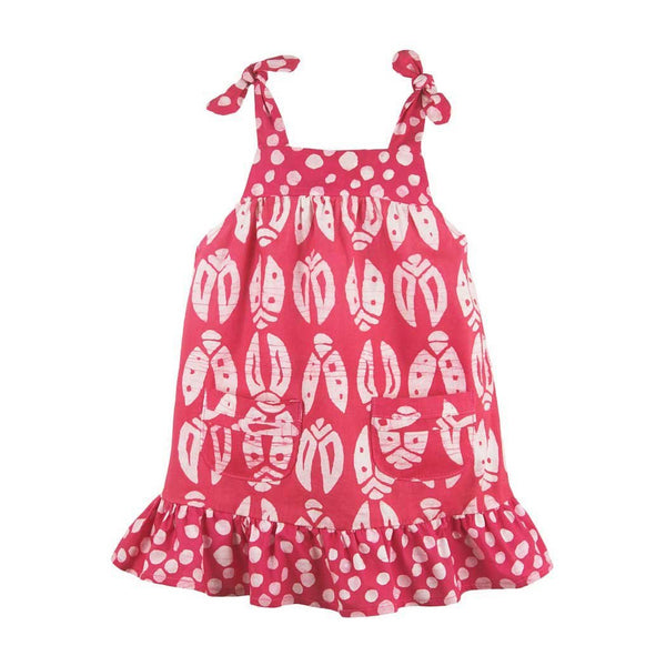 Girls Pocket Dress Bugs Primrose - Global Mamas (C)
