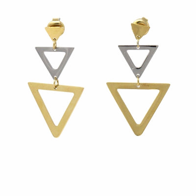 Kylie Minimalist Triangle Dangle Earrings